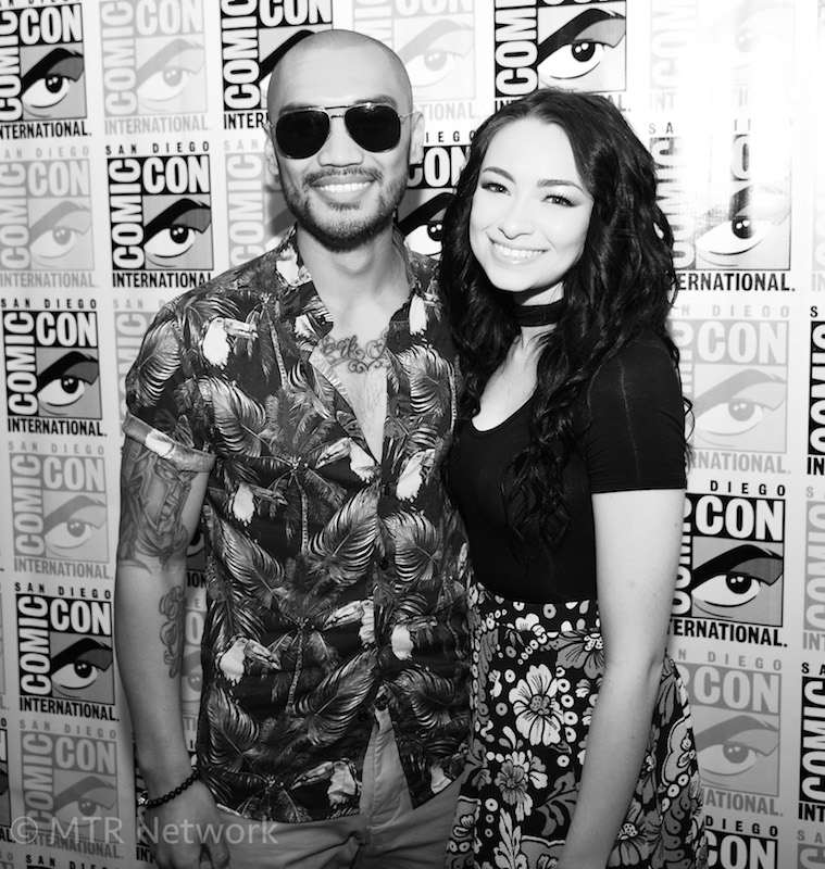 Alex Mallari Jr. & Jodelle Ferland at SDCC 2017