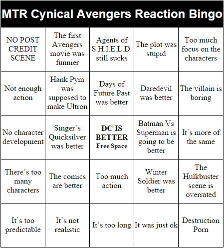 nerd bingo