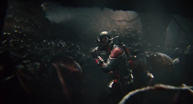 Ant-Man runs with Ants