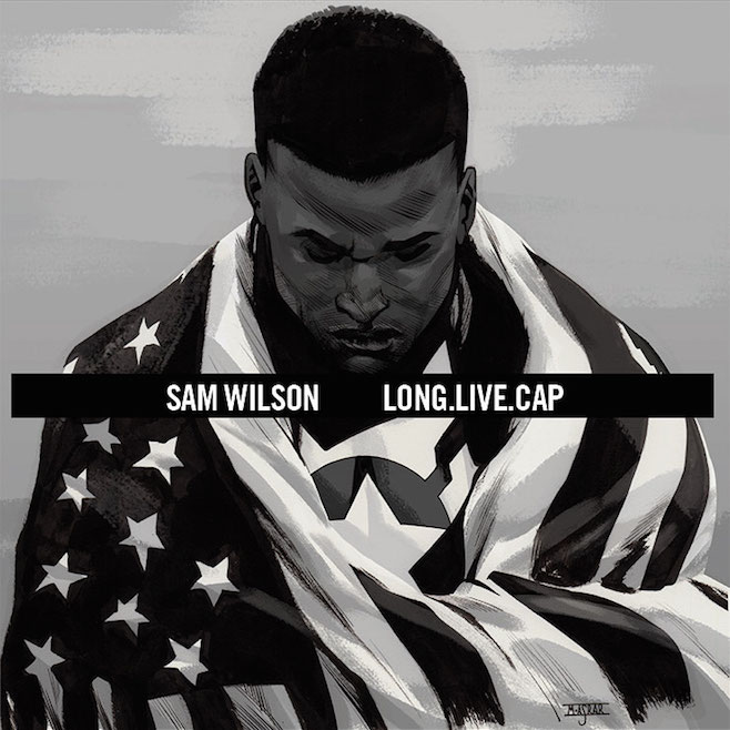 Sam Wilson, Captain America #1 (Artwork by Mahmud Asrar) / Long. Live. A$AP. by A$AP Rocky