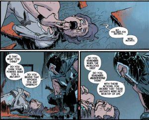 Magneto watching one of the Marauders die in Cullen Bunn's series