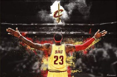 LeBronukah - LeBron James of the Cleveland Cavs with Open Arms