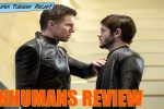 Inhumans: Black Bolt (Anson Mount) confronts his brother Maximus (Iwan Rheon)
