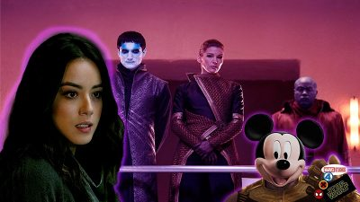 Daisy Johnson in front of Kasius and Basha