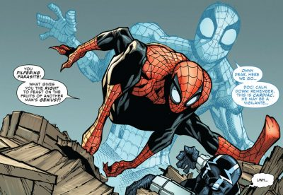 Doc Ock as Superior Spider-Man taking on Cariac