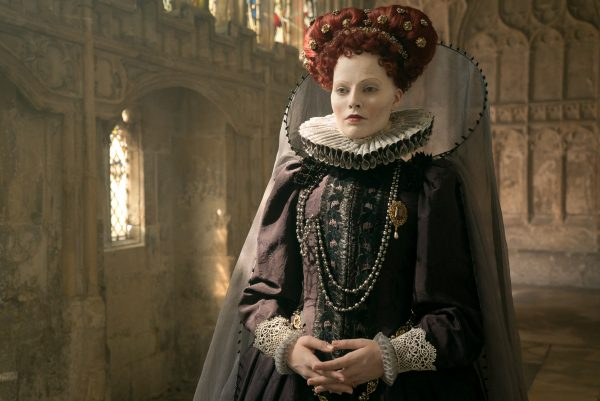 Margot Robbie stars as Queen Elizabeth I in MARY QUEEN OF SCOTS, a Focus Features release. Credit: Liam Daniel / Focus Features
