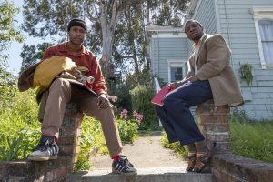 Jimmie Fails stars as Jimmie Fails and Jonathan Majors as Montgomery Allen in THE LAST BLACK MAN IN SAN FRANCISCO, an A24 release. Credit: David Moir / A24