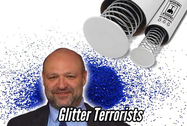 John Hugo founder of the Straight Pride Parade is a victim of glitter bombs