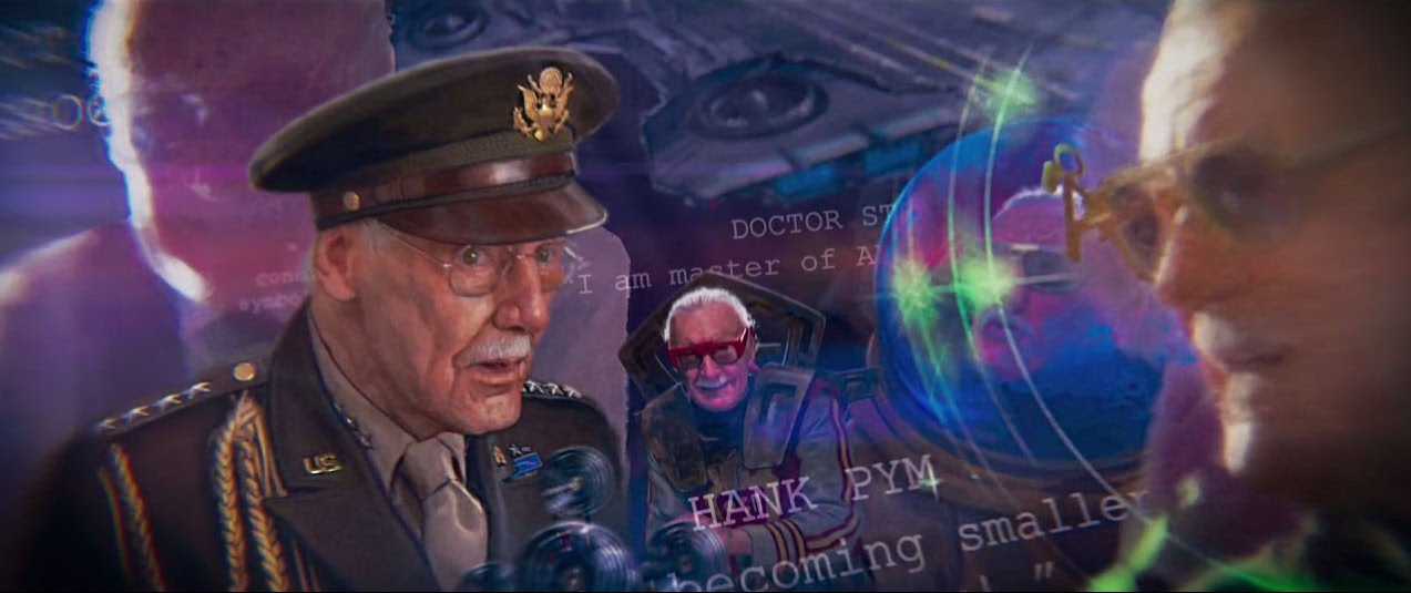 Images from Stan Lee's various cameos in the MCU