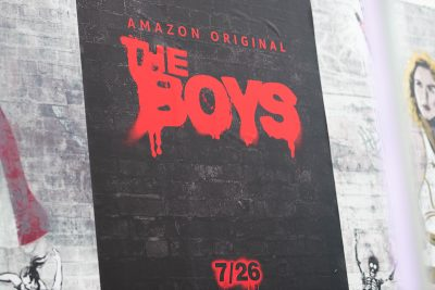 Graffiti promotional poster for The Boys