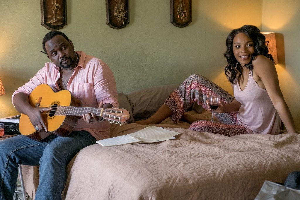 Brian Tyree Henry and Shinelle Azoroh star as Garret and Susan Radcliff in DON'T LET GO,