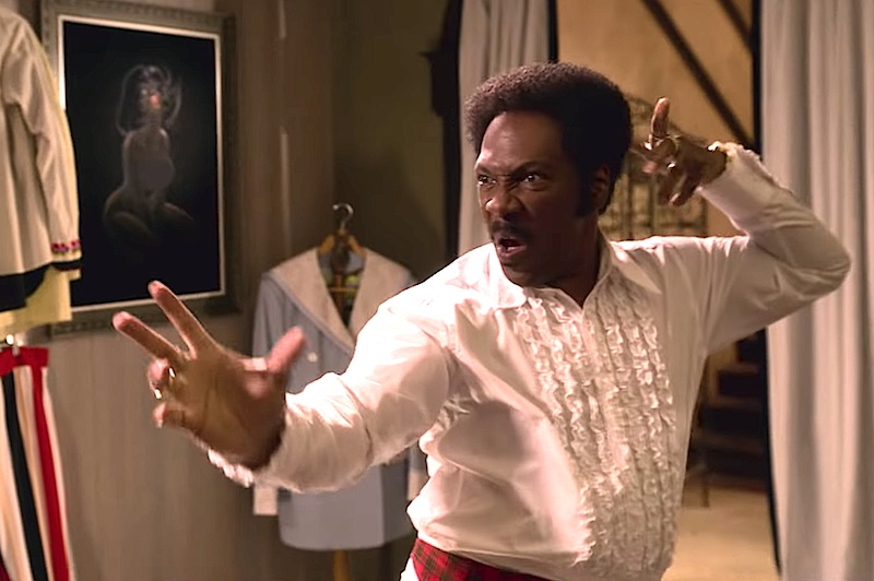Dolemite is My Name: Eddie Murphy as Rudy Ray Moore strikes a kung fu pose