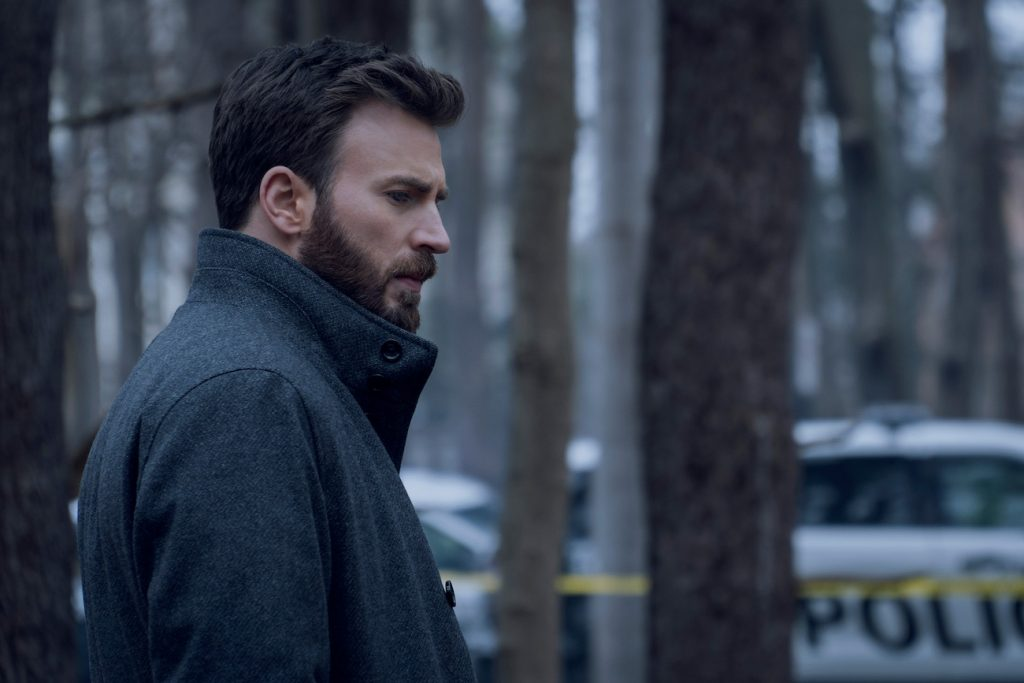 "Chris Evans in ""Defending Jacob,"" premiering April 24 on Apple TV+"
