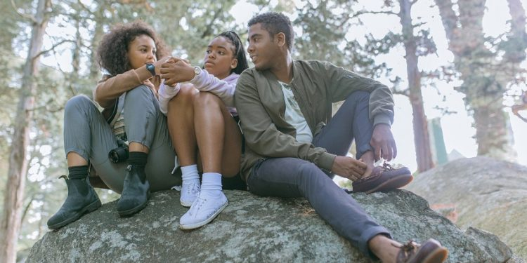 (L-R) Lovie Simone, Celeste O'Connor and Jharrel Jerome stars star in SELAH AND THE SPADES Photo: Courtesy of Amazon Studios