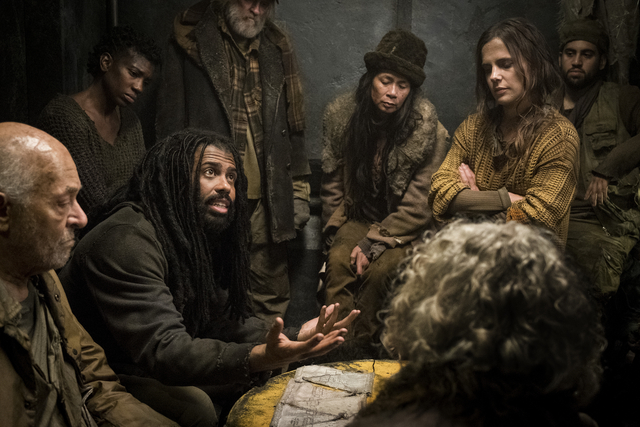 Katie McGuinness, Daveed Diggs in TNT's Snowpiercer. Photograph by Justina Mintz